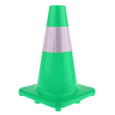 Windproof Road Safety Cone Reflective Marker Roller Skating Football Green