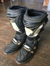 Thor Quadrant Motocross/ATV Boots Mens 10 Motorcycle 4-strap black white Used