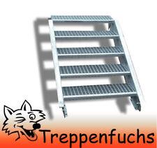 5 Stufen Stahltreppe Breite 70 cm Geschosshöhe 70-105cm inkl. Zubehör