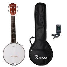 Kmise 4 String Banjo Ukulele Uke Banjo Lele Concert 23 Inch Sapele Tuner