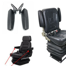 2x DIY Black Leather Seat Armrest Car Interior Chair Accessories Left+Right 26cm