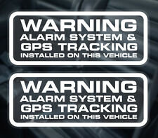 PAIR Vehicle ALARM AND GPS TRACKING WINDOW STICKER / GPS TRACKER FITTED DECAL