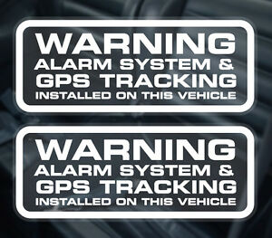2 X Car Alarm Window Stickers / GPS Tracker Installed Warning Sticker.