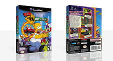 The Simpsons Hit & Run Replacement Game Cube Case + Box Art Work No Game
