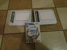 NINTENDO 2 WHITE TABLETS uDraw Studio  (Wii, 2011) LOT COMPLETE GAME PAD