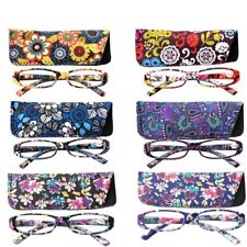 Reading Glasses Women Rectangle Floral Frame Eyewear Glasses Farsighted