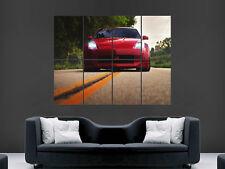 Rojo Nissan 350Z exhiben rápido carretera enorme gigante cartel impresión de arte