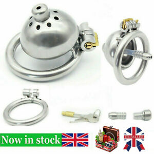 Lock Metal Stainless Steel Male Chastity Device Belt Super Small Short Cage Ring