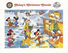 Antigua - 1988 Disney Christmas Chorale - 8 Stamp Sheet - Scott #1168 1N-013
