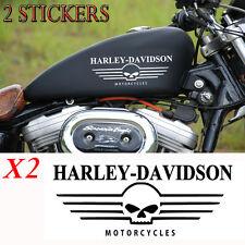 lot 2 stickers autocollant harley davidson skull sportster iron casque moto ipad