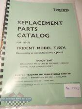 Parts Book - Triumph T150V Trident 1974/5