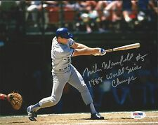 Mike Marshall Dodgers 1988 WS Champs Signed 8x10 Photo PSA/DNA X60568