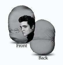 Elvis Presley Viso Grigio Design mushcush Ovale Rotondo Cuscino grande idea regalo