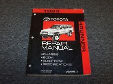 1993 Toyota 4Runner Workshop Shop Service Repair Manual Vol2 SR5 2.4L 3.0L V6
