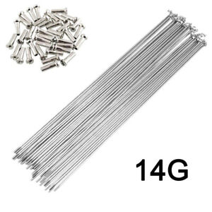 10 x 14G Bicycle Spokes With Nipples Stainless Steel MTB Road Bike High Strength