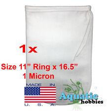 "1x Filter Bag 11"" x 16.5"" 1 Micron Felt Polypropylene Quality Made in USA"