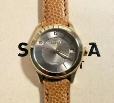 Shinola Gail Watch with 36mm Golden & Grey Tone Face & Beige Brown Leather Band