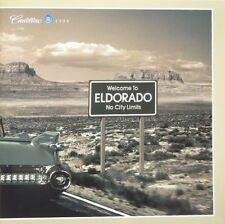 1998 Cadillac Eldorado 20-Page Deluxe Sales Brochure w/Paint & Interior Chips