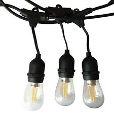 48' LED Outdoor Commercial Restaurant Patio Yard Lawn String Rope Lights 16 Bulb