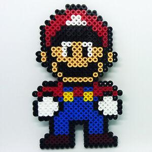 Nintendo Super Mario Bros MARIO standing large handmade Hama beaded coaster