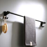 Wall Mount Aluminuml Matte Black Bathroom Towel Holder For Single Bar