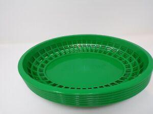 Subway Green Plastic Fast Food Sandwich Baskets Lot of 6