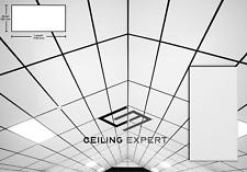 4.3m2 Suspended White Vinyl Ceiling Tiles EasyClean Wipeable 1200x600 Waterproof