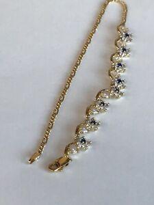 14k & Sapphire Fine Ankle Bracelet Anklet