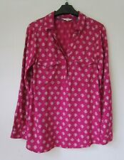 WHITE STUFF Bright Pink White Flower Print Blouse Shirt Size 8