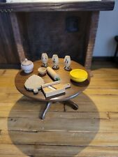 Dollhouse Miniature Lot Of Carved Wooden Kitchen Items Vintage