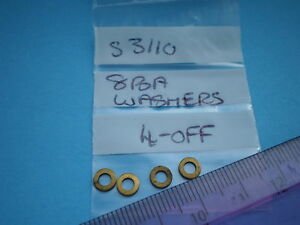 00HORNBY SPARES. S3110 8BA WASHERS  4 OFF.