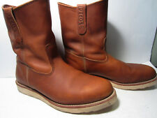 Men's Red Wing Pecos 866 Soft Toe Brown Leather Work Boots Size 11 E ASTM EH