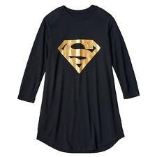 DC Comics Gold Supergirl Nightgown Pajamas Size 6/6X NWT