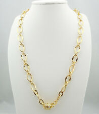 "KIRKS FOLLY 30"" CHAIN OF EVENTS LINK CHAIN MAGNETIC NECKLACE GOLDTONE ~NEW 30"""