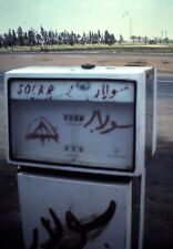 Orig Kodachrome Slide, Solar Gas Pump in the Middle East