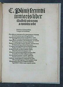 INKUNABEL, GASIUS PLINIUS CAECILIUS SECUNDUS LIBER ILLUSTRIUM,KÖLN,QUENTELL,1505