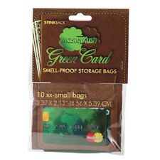 Stink Sack XX-Small 10 PACK Smell Proof Bags Masterkush Blaze Kush Credit Card