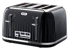 Breville Impressions 4 Slice Wide Slot Toaster Removable Crumb Tray Black New