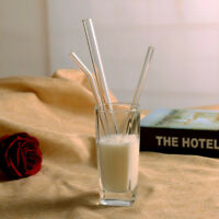 Reusable Glass Straws Smoothie Drinking Straws for Milkshakes Frozen Drinks