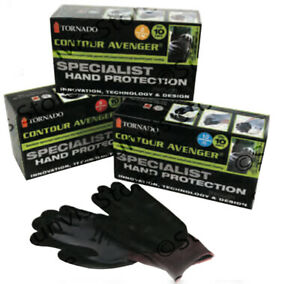 TORNADO Contour Avenger Specialist Hand Protection Work Gloves 10 Pairs S/M, L