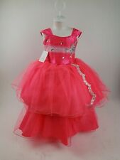 New Girls Hot Pink Party Dress Sz 4.             Vestido Rosa talla 4