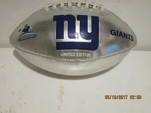 FOTOBALL Limited Edition 2003 SILVER MINI- NY Giants-FOOTBALL-RARE GREAT COND!!!