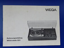 WEGA studio 3231 - Orig.BDA und Kundendienstanleitung ab Geräte Nr: 4001 - 32529