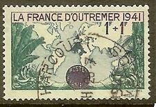 "FRANCE TIMBRE STAMP N° 503 "" FRANCE D'OUTRE MER 1F + 1F "" OBLITERE TB"