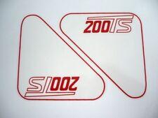 Adhesivos Ducati 200TS cajas de herramientas.
