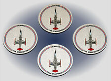 F-104 Starfighter Coaster Set - Made in the USA