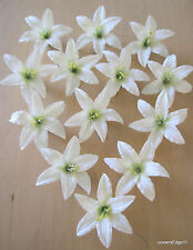 "13 Piece Lot Cream White  3.5"" Lily Silk Flower Hair Clip,Updo,Pin Up,Bridesmaid"