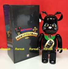 Medicom Skytree Bearbrick 400% Lucky Cat Neko Metallic Black Sky tree Be@rbrick