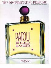 PUBLICITE ADVERTISING 024   1998   JEAN PATOU    parfum FOR EVER