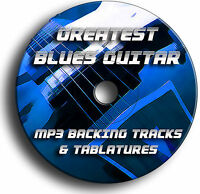 140x BLUES GUITAR MP3 BACKING JAM TRACKS & TABS TABLATURES SONG BOOK CD